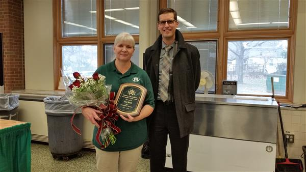 Distinguished Service Award Presented to Claggett Middle School Staff Member