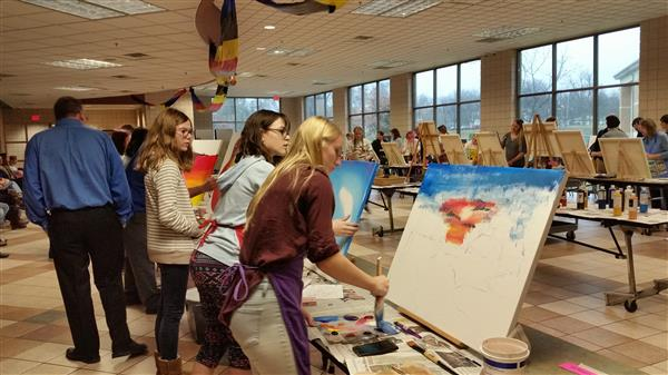 Student and Staff Artist Share Talents