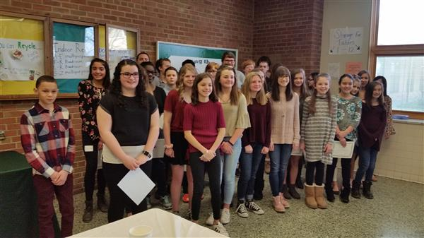 Claggett Middle School Leaders Honored