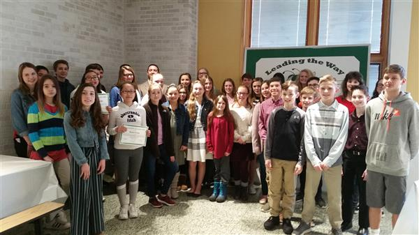 Student Leaders at Claggett Middle School Recognized at Leadership Breakfast