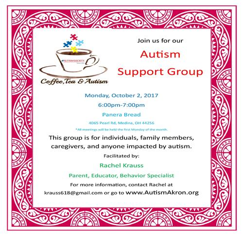 Autism Support Group October 2 2017 Flyer