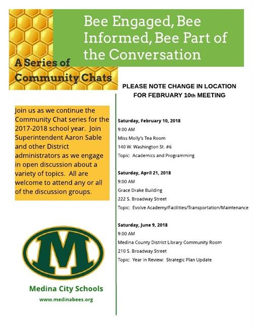 Mark Your Calendars for the Next Community Chat