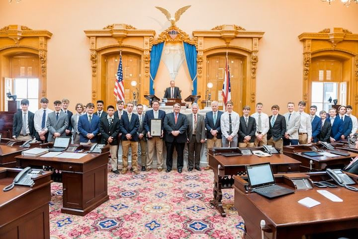 Varsity Boys Soccer Team Recognized at the Ohio Statehouse