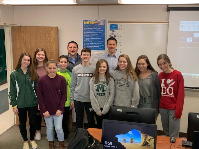 Claggett Middle School Students Learn About Shining Bright on Social Media