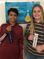 Winners of the Claggett Middle School Math Counts Competition Varun Rodrigues and Emerson Willis
