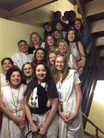MHS Latin Club in Stairwell at Latin Convention