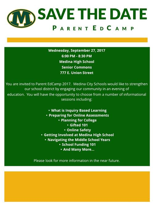 Parent EdCamp 2017 Save the Date Flyer