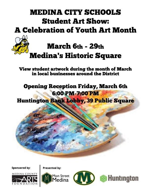 Student Art Show:  A Celebration of Youth Art Month