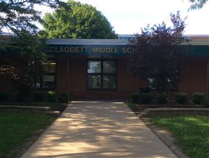 Front of Claggett Middle School