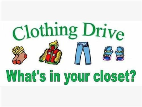 Student Council Clothing Drive 1/22-1/26
