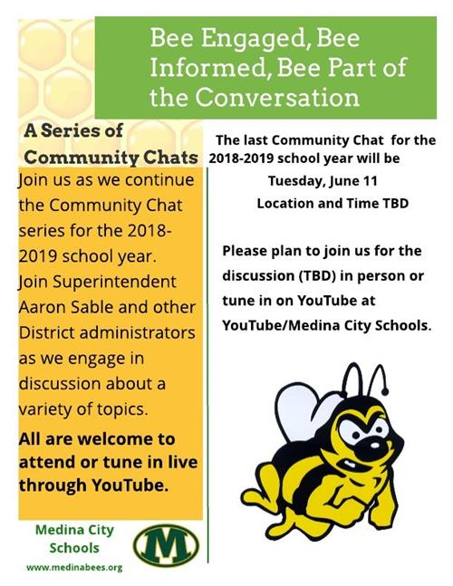 Final Community Chat for 2018-2019 School Year