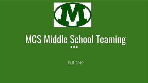 Medina City Schools Middle School Teaming Presentation