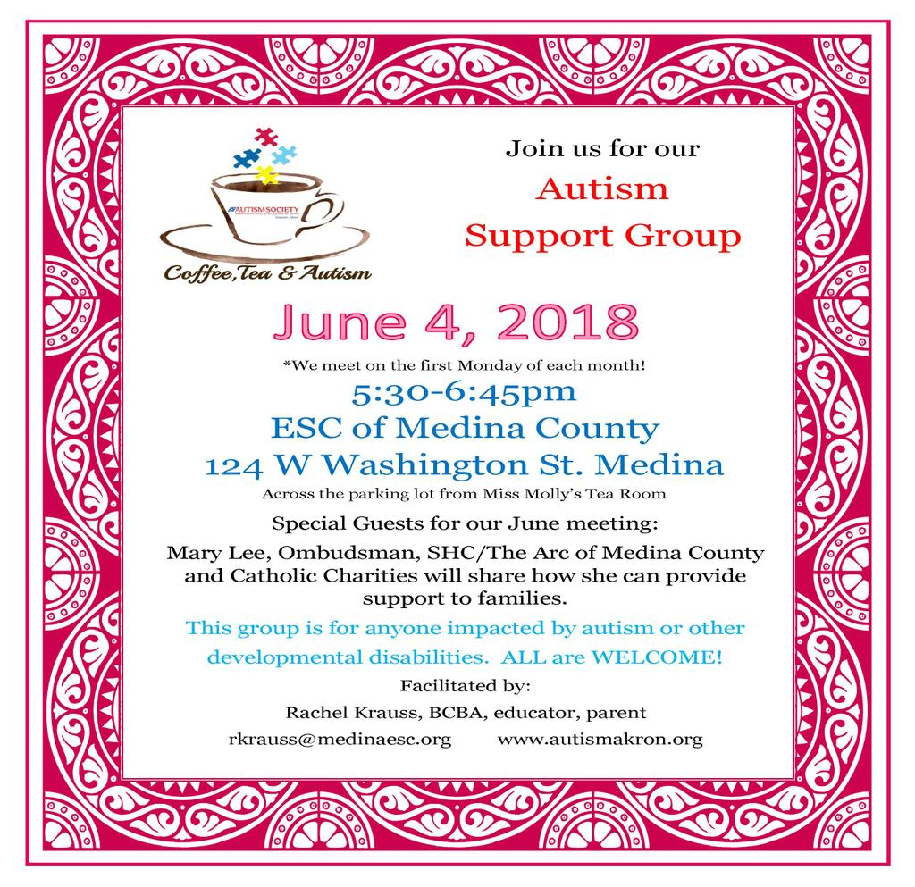 Autism Support Group June 4