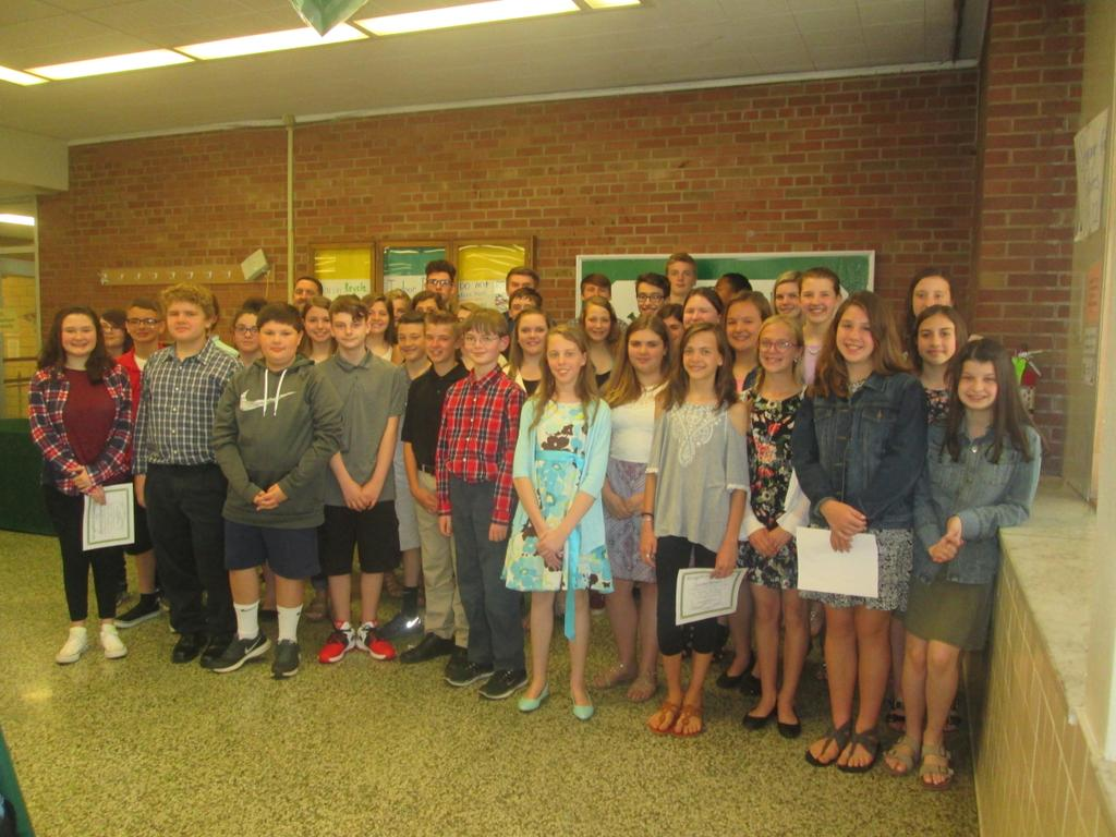 Claggett Middle School Student Leaders Honored