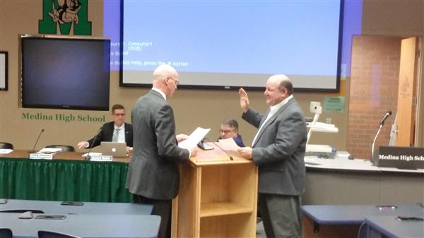 Doug Eastwood Being Sworn in as President