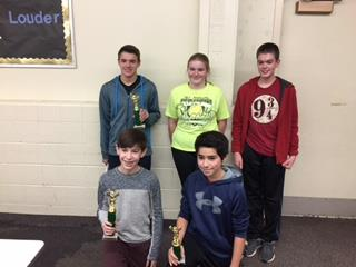 Five Finalist in Claggett Middle School Spelling Bee