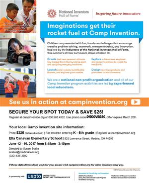 Camp Invention 2017 Flyer