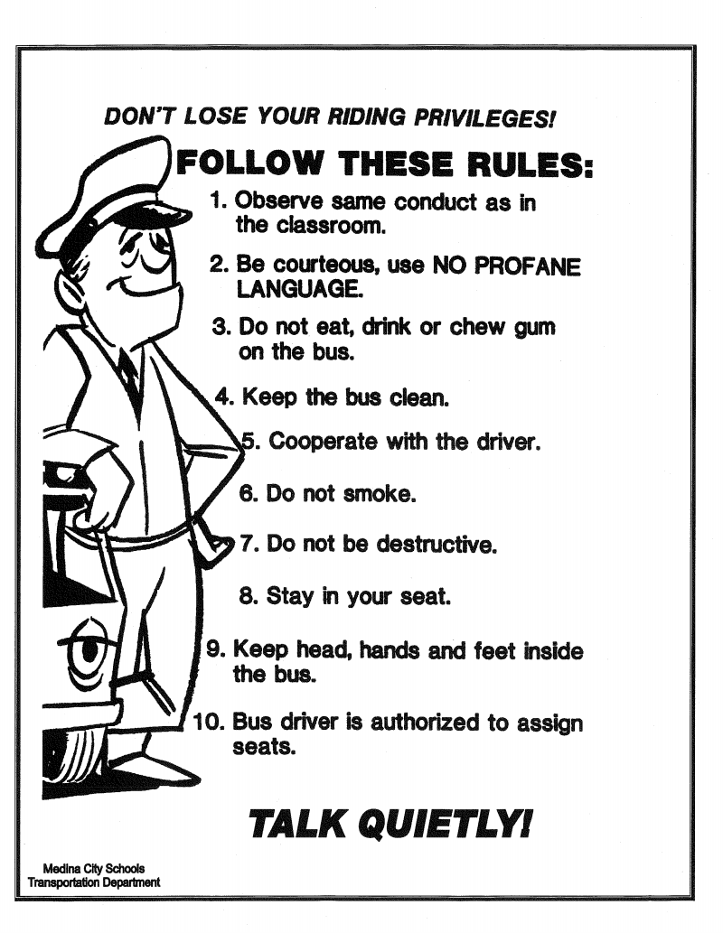 Transportation / Bus Rules